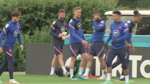 exterior shots of jordan henderson training for england. - playing stock videos & royalty-free footage