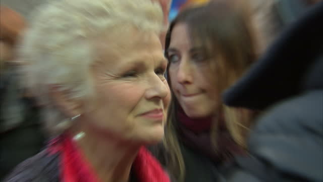 exterior shots of julie walters on the red carpet at the premiere of paddington 2 at the bfi southbank on november 05 2017 in london england - bfi southbank stock videos & royalty-free footage