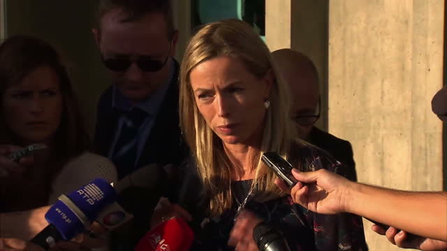 exterior shots of kate mccann making a comment outside lisbon civil court. kate & gerry mccann are in court to launch libel action against goncalo... - kate mccann stock-videos und b-roll-filmmaterial