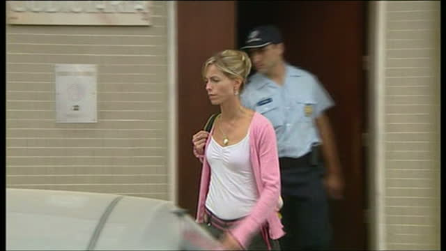 exterior shots of kate mccann, mother of madeleine mccann, leaving portimao police station after being questioned and departing in a car on september... - kate mccann stock-videos und b-roll-filmmaterial