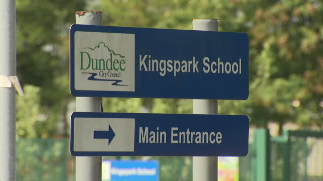 exterior shots of kingspark school in dundee ahead of opening on 24th august 2020 in dundee, scotland - dundee scotland stock videos & royalty-free footage