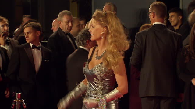 exterior shots of kristina wayborn attending the royal world premiere of 'spectre' at royal albert hall on october 26 2015 in london england - spectre 2015 film stock videos and b-roll footage
