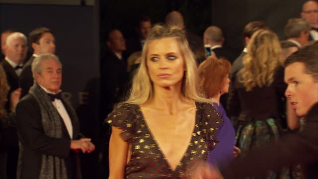 exterior shots of laura bailey attending the royal world premiere of 'spectre' at royal albert hall on october 26 2015 in london england - spectre 2015 film stock videos and b-roll footage