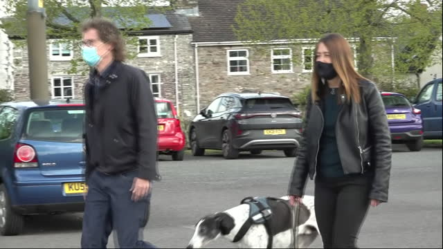 GBR: Leader of the Welsh Liberal Democrats, Jane Dodds, at a polling station