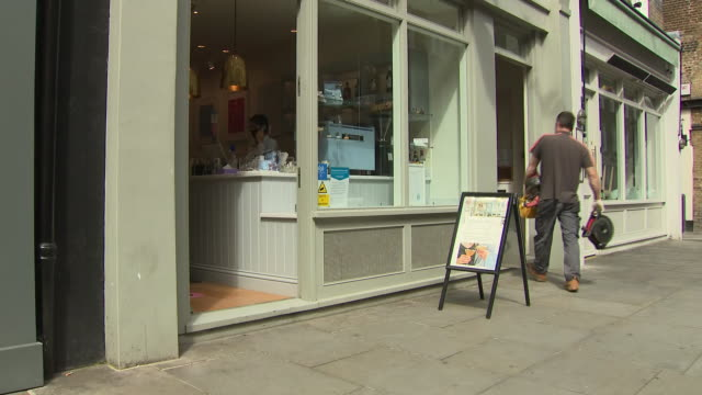 exterior shots of london grace beauty salon after the relaxing of coronavirus lockdown restrictions on 13 july 2020 in london united kingdom - beauty treatment stock videos & royalty-free footage