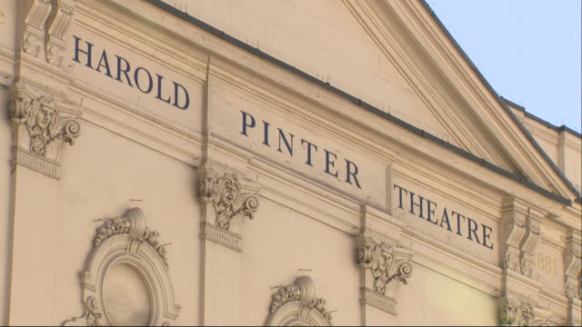 exterior shots of london's west end and the harold pinter theatre on panton street during the coronavirus outbreak and lockdown on 25th march 2020... - ウェストエンド点の映像素材/bロール
