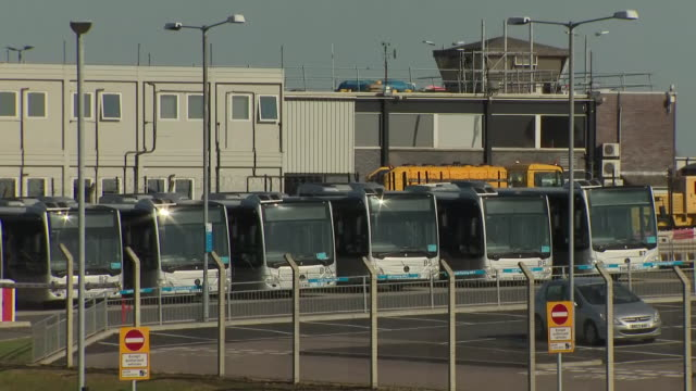 exterior shots of luton airport parking almost empty during country lockdown on 20th april 2020 in luton, united kingdom - luton airport stock videos & royalty-free footage