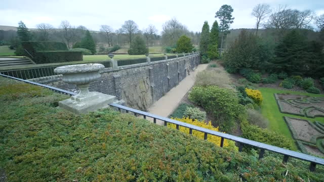 exterior shots of lyme house and extensive landscaped gardens and ponds, a national trust property, on 5 march 2021 in disley, united kingdom - landscaped stock videos & royalty-free footage