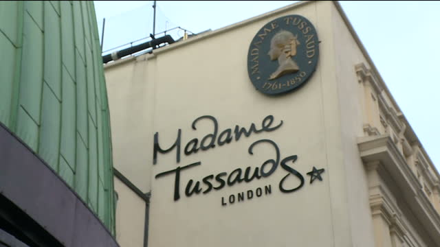 exterior shots of madame tussauds london on november 08 2017 in london england - madame tussauds stock videos & royalty-free footage