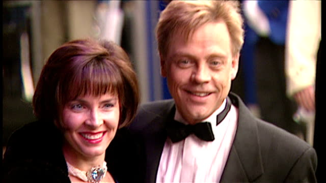 exterior shots of mark hamill arriving at the star wars special edition premiere on march 20 1997 in london england - film premiere stock videos & royalty-free footage
