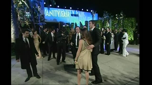 exterior shots of mark wahlberg and rhea durham and sharon stone arriving at vanity fair party on 25 february 2007 in hollywood, united states. - vanity fair stock videos & royalty-free footage