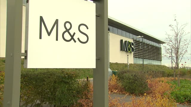 exterior shots of marks spencer shop on november 8 2016 in cheshire england - cheshire england stock videos & royalty-free footage