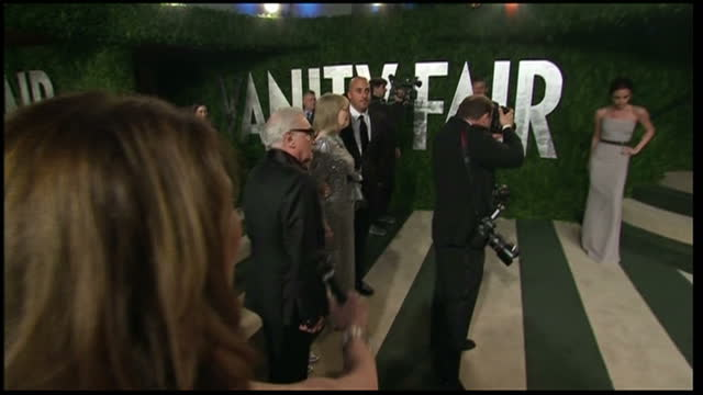 exterior shots of martin scorsese arriving at vanity fair party martin scorsese arrives at vanity fair party on february 27 2012 in los angeles... - vanity fair stock videos and b-roll footage