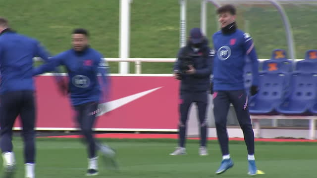 exterior shots of mason mount training for england. - sports training stock videos & royalty-free footage