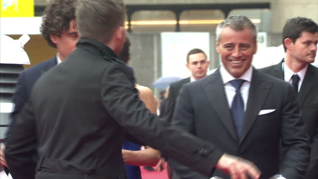 exterior shots of matt le blanc arriving on red carpet for the bafta awards at the royal festival hall on may 12 2013 in london england - royal festival hall stock videos and b-roll footage