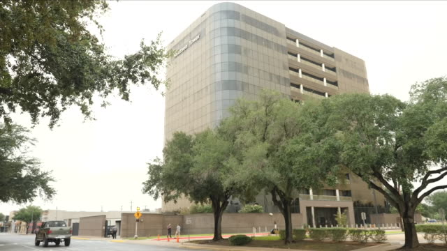 exterior shots of mcallen courthouse on 1 july 2018 in mcallen, united states - mcallen texas stock videos & royalty-free footage