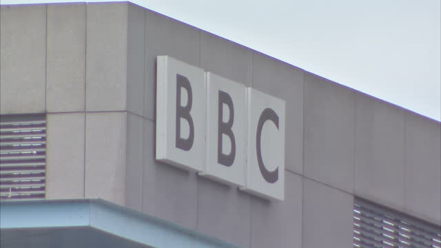 exterior shots of mediacityuk complex and broadcasting studios including the bbc which has around 2,700 staff working in twenty-six departments... - salford quays stock videos & royalty-free footage