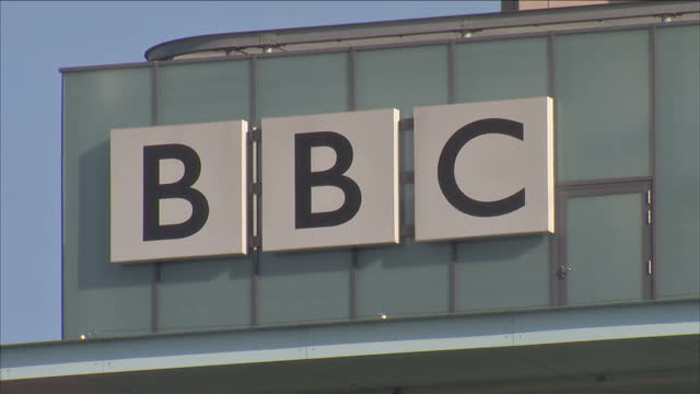 Exterior shots of MediaCityUK complex and broadcasting studios including the BBC which has Around 2700 staff working in twentysix departments...