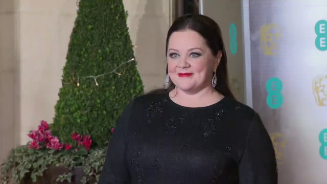 exterior shots of melissa mccarthy on the bafta after party red carpet on 10th february 2019 in london england n - 英国アカデミー映画賞点の映像素材/bロール