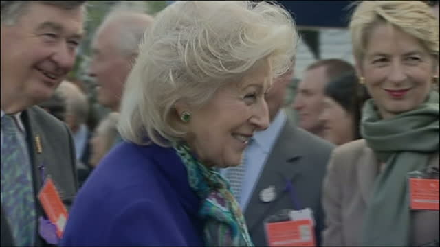 exterior shots of members of the royal family arriving including princess alexandra of kent princess michael of kent prince michael of kent the duke... - princess michael of kent stock videos and b-roll footage
