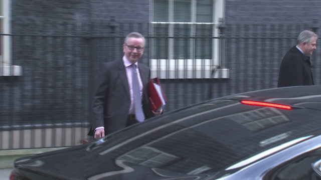 Exterior shots of Michael Gove MP departing Number 10 Downing Street after a Brexit cabinet meeting on 19 December 2017 in London United Kingdom