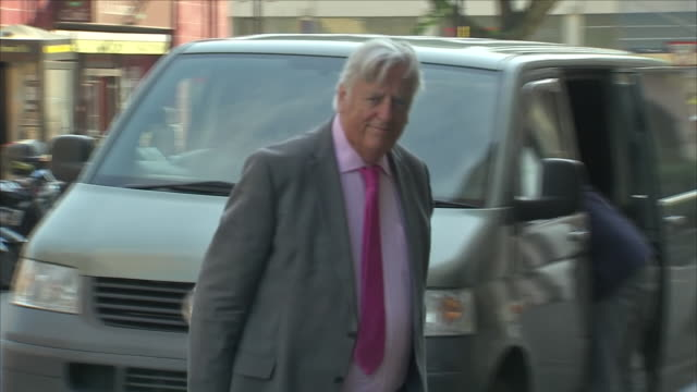exterior shots of michael mansfield qc arriving at the millennium gloucester hotel for the 2nd day of hearings of tributes and commemorations of the... - day 2 stock videos & royalty-free footage