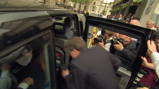 Exterior shots of Mike Ashley Founder Sports Direct Owner of Newcastle United FC departing after Parliament Select Committee ignore questions from...