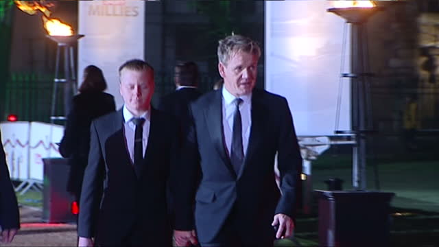 exterior shots of military personnel on the red carpet arriving at the sun military awards and celebrity chef gordon ramsay arriving with his son... - 2013 stock videos & royalty-free footage