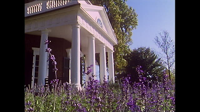 exterior shots of monticello plantation house; 1972 - thomas jefferson stock videos & royalty-free footage