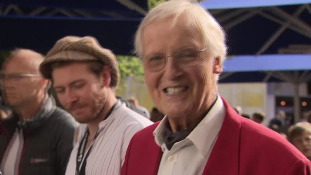 exterior shots of nicholas parsons at edinburgh festival on 10 august 2017 in edinburgh, scotland. - nicholas parsons stock videos & royalty-free footage