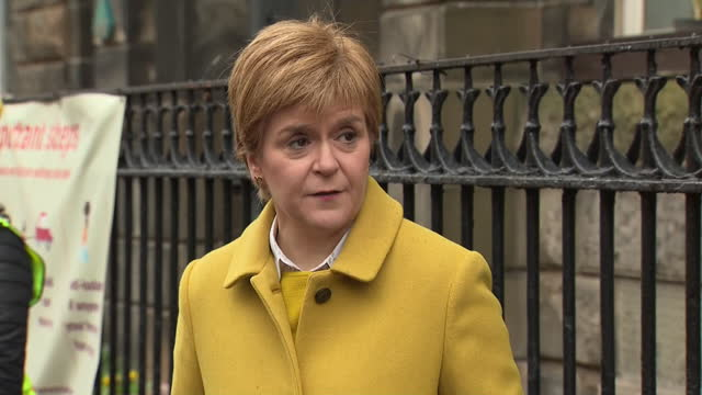 GBR: First Minister of Scotland, Nicola Sturgeon casts her vote in the Scottish Parliamentary Elections