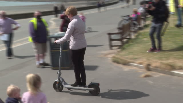 GBR: Nicola Sturgeon visits Troon in South Ayrshire on the campaign trail