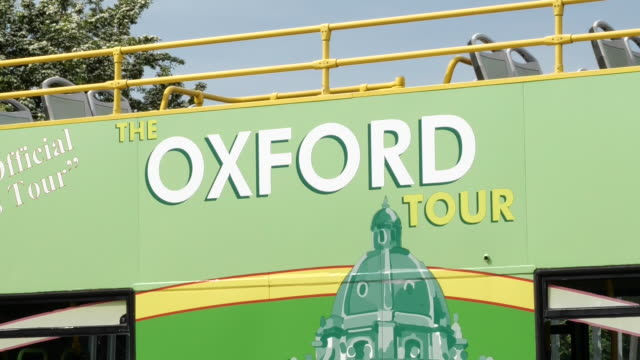 exterior shots of oxford open topped tour buses being parked at depo as they are inoperative during lockdown as tourism becomes absent 9th may 2020... - oxford england stock videos & royalty-free footage