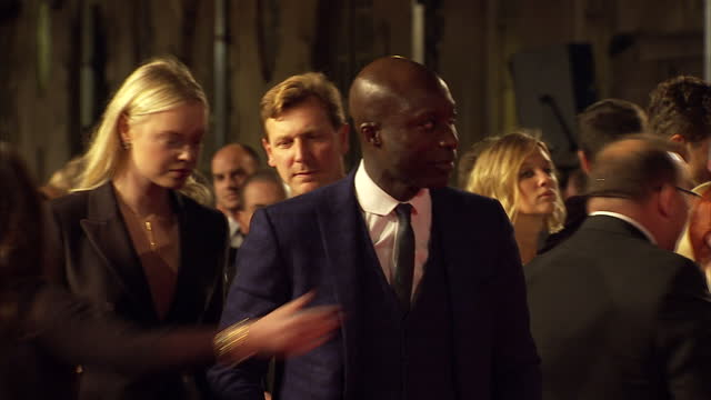 exterior shots of ozwald boateng attending the royal film performance of 'spectre' at royal albert hall on october 26 2015 in london england - spectre 2015 film stock videos and b-roll footage