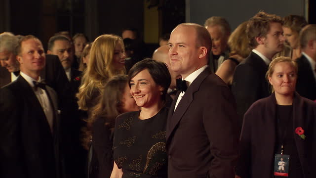 exterior shots of pandora colin and rory kinnear attending the royal world premiere of 'spectre' at royal albert hall on october 26 2015 in london... - spectre 2015 film stock videos and b-roll footage