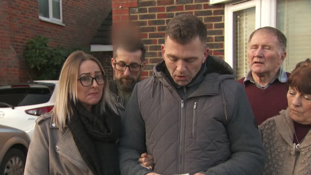 exterior shots of paul gait and elaine kirk making a statement to the media on their experience after being arrested and released without charge in... - gatwick airport stock videos & royalty-free footage