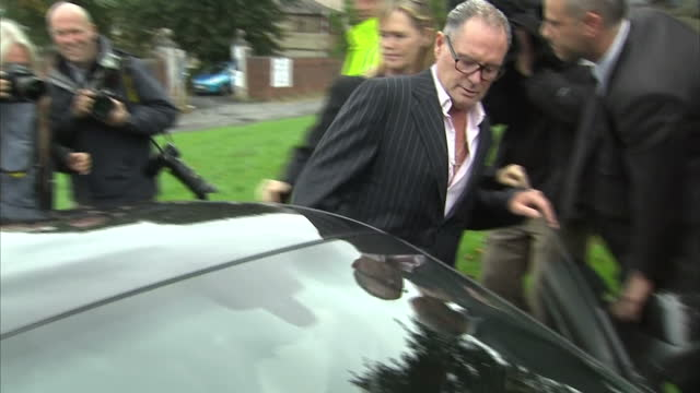 exterior shots of paul gascoigne former england football player departing court house after hearing where he pleaded guilty to racially aggravated... - court hearing stock videos and b-roll footage