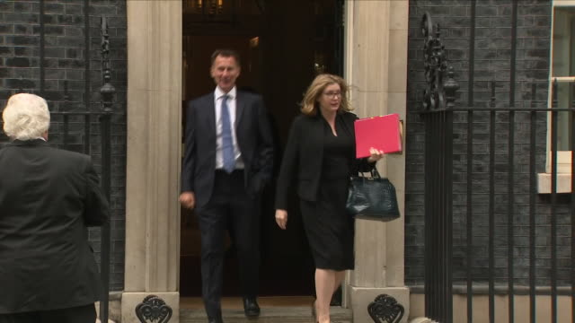 Exterior shots of Penny Mordaunt MP Secretary of State for International Development Minister for Women and Equalities and Jeremy Hunt MP Secretary...