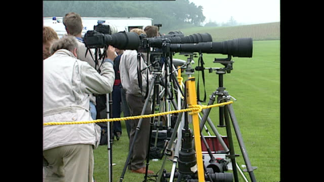 exterior shots of photographers taking photos and filming prince charles at a polo match in cowdray park on june 02, 1992 in west sussex, england. - west sussex stock videos & royalty-free footage