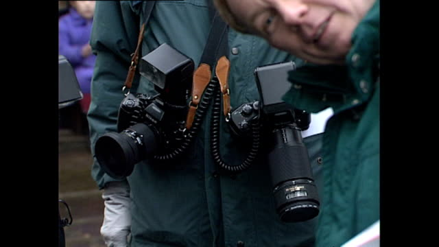 Exterior shots of photographers waiting for Princess Diana in an unofficial engagement at centrepoint homeless charity interviews with member of the...