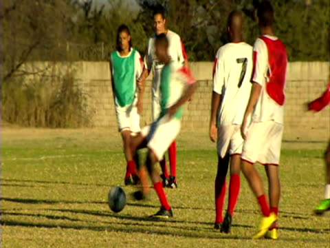 exterior shots of Platinum Stars training before their match against England