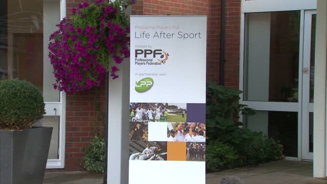 Exterior shots of posters promoting the Life After Sport conference outside the Belfry golf club in Birmingham The one day event will focus on Life...
