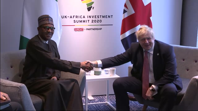 GBR: Prince Harry and Boris Johnson attend Africa Investment summit in London
