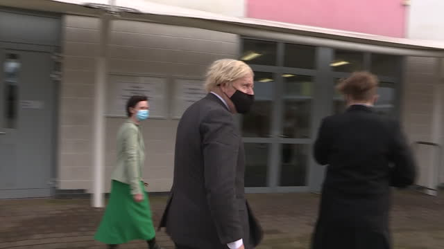 GBR: Boris Johnson visits Sedgehill Academy in Lewisham, south London