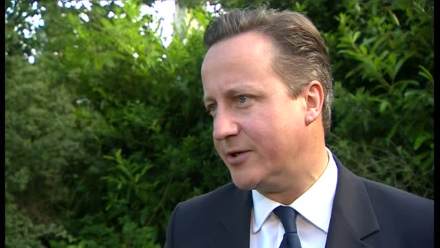 exterior shots of prime minister david cameron commenting on robert jenrick mp winning the newark by election on june 06 2014 in newark upon trent... - british liberal democratic party stock videos and b-roll footage