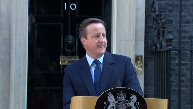 exterior shots of prime minister david cameron giving his resignation speech on december 13 2016 in london united kingdom - david cameron politician stock videos & royalty-free footage