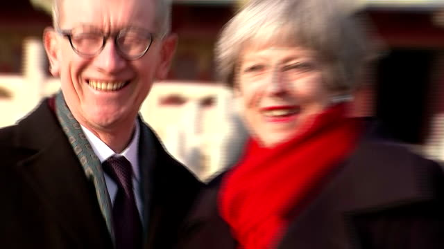 Exterior shots of Prime Minister Theresa May touring the Forbidden City accompanied by her husband Philip>> on February 01 2018 in Beijing China