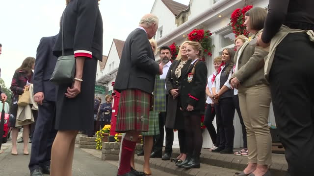 GBR: UK: Prince Charles and the Duchess of Cornwall visit to the Scottish poet Robbie Burns' Cottage.