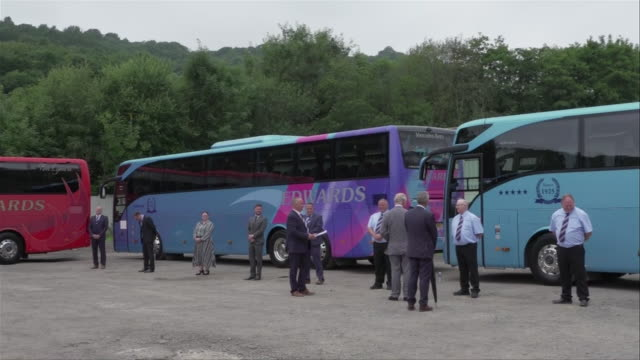 GBR: Prince Charles visits a travel company in Wales and thanks NHS staff