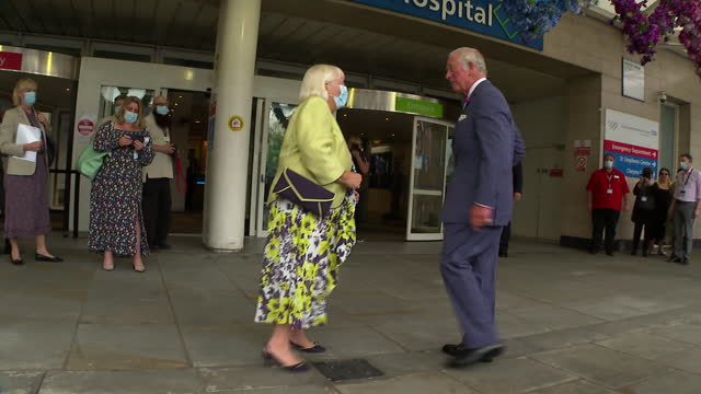 GBR: UK: Britain's Prince Charles, Prince of Wales meets with staff during a visit to Chelsea & Westminster Hospital in London